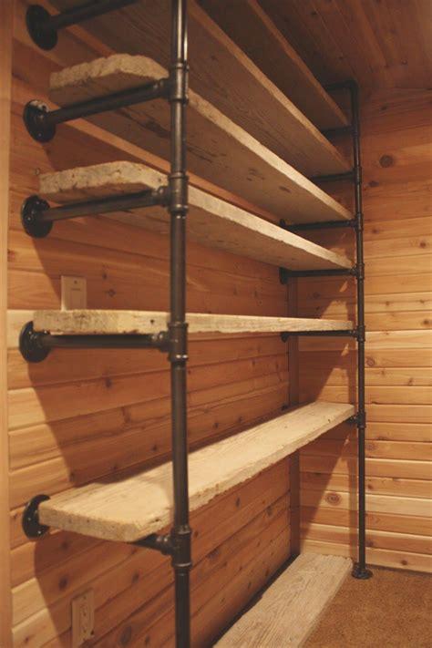 custom made black iron steel shelf how to customize a closet for improved storage capacity