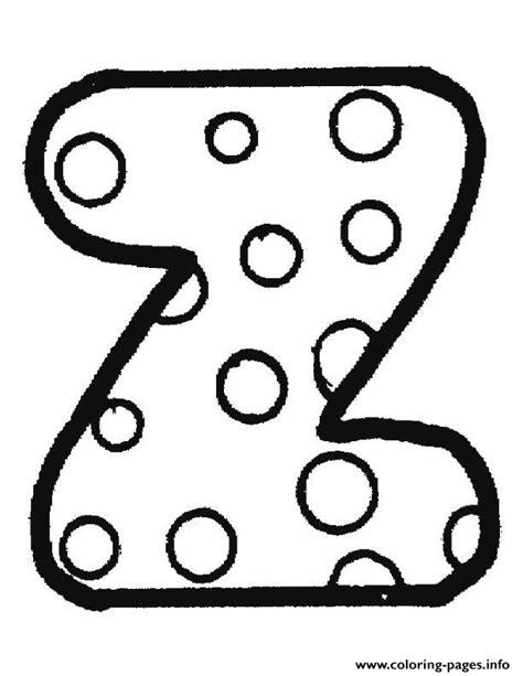 bubble letters a z letter z coloring pages printable 20715 | 1474769461bubble letter z