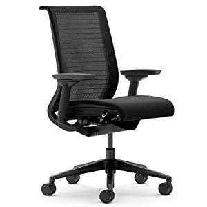 steelcase think 3d mesh fabric chair licorice