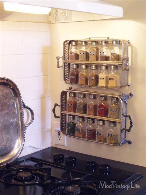 Silver Spice Rack by Mod Vintage Silver Spice Rack From Sterling Silver