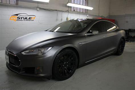 Matte Dark Grey Tesla Model S