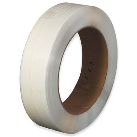 core mm   white poly strapping  gauge