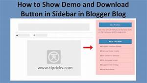 How to show demo and download button in sidebar in blogger for Html side menu bar template