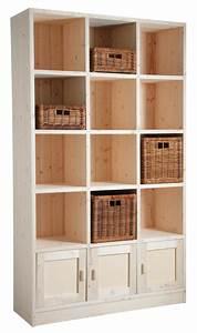 Bibliothèque 4 Cases : biblioth que 12 cases 3 portes en pic a brut ~ Teatrodelosmanantiales.com Idées de Décoration