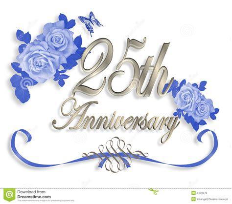 25th Wedding Anniversary Invitation Stock Illustration  Illustration Of Anniversary