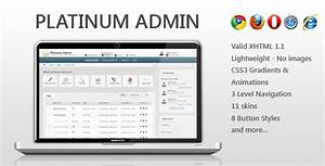 Platinum admin traclaborat for Jquery admin panel template free download