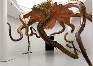 Huang, Yong, Ping, Suspends, Sculptural, Sea, Monster, From, Qatar, Museums, Gallery, Ceiling