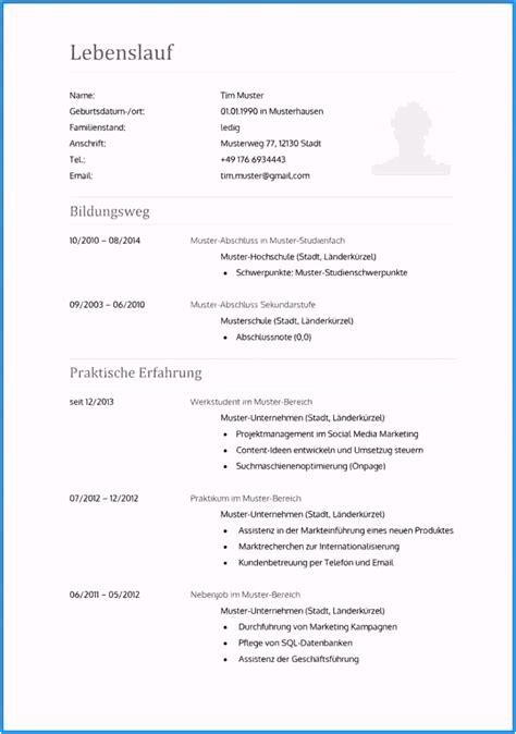 Lebenslauf Muster Word Datei by 8 Lebenslauf Vorlage Word Datei Htiafq Tippsvorlage
