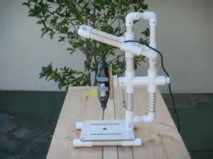 pvc design pictures of a quot build it yourself quot pvc drill press