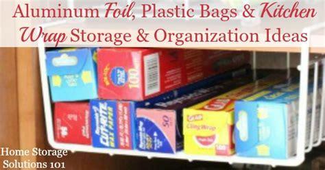 Aluminum Foil, Plastic Bags & Kitchen Wrap Storage