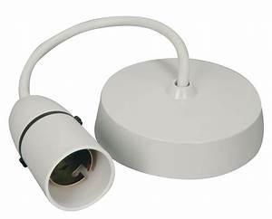 White pendant ceiling rose lamp holder