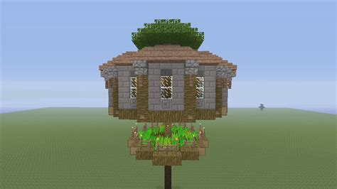How To Build A Round Treehouse In Minecraft-part-youtube