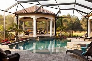 gazebo et abri soleil des idees pour jardin avec piscine With rideaux pour tonnelles exterieur 16 gazebo et abri soleil des idees pour jardin avec piscine