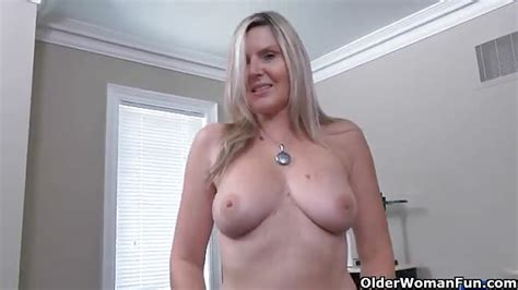 naughty canadian milf masturbating in her office