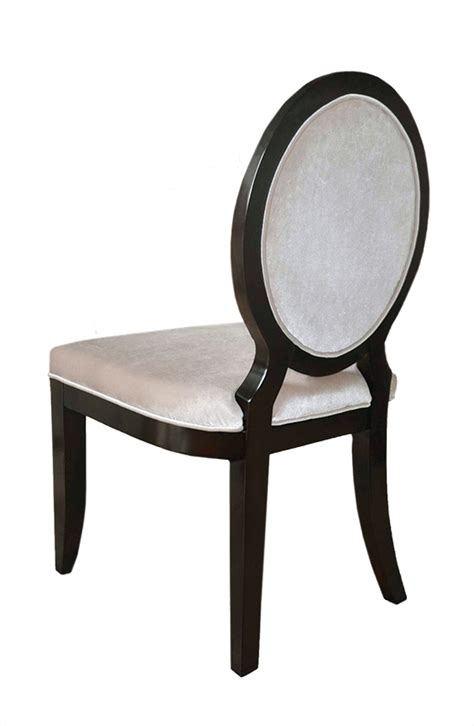 modern oval back dining chair