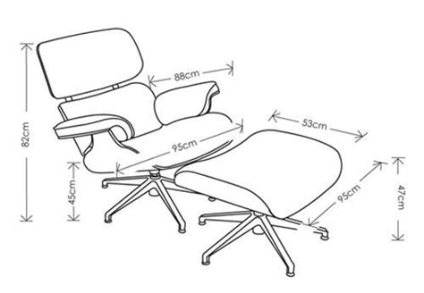 eames chair dimensions images