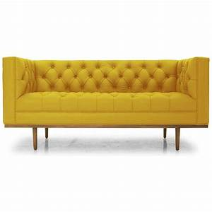 Best 25 yellow leather sofas ideas only on pinterest for Yellow leather sofa bed