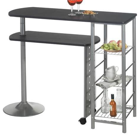 bar pour cuisine pas cher table haute de bar josua mdf décor noir achat vente