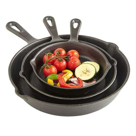 iron cast skillets skillet pan cookware brands menshealth pans vonshef durable meals way frying sets pots seasoning