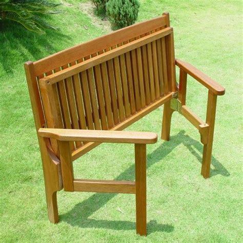 foldaway  seat beautiful keruing hardwood garden