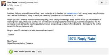 sle follow up email 4 sales follow up email templates that get replies yesware