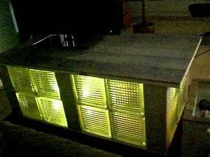 Wasserbett Selber Bauen : selbstgebauter tisch aus glasbausteinen mit led s youtube ~ Michelbontemps.com Haus und Dekorationen