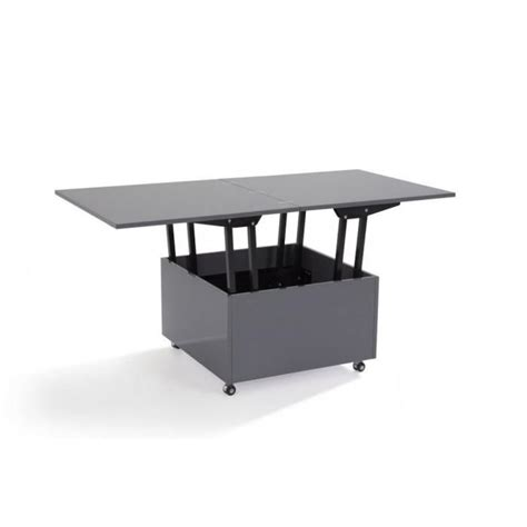 table salle a manger grise 1 table basse relevable extensible giani grise achatvente table