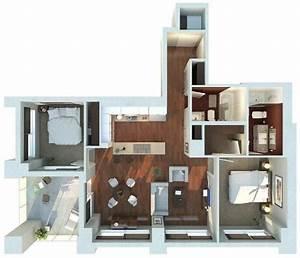 Plan Maison 3d D U2019appartement 2 Pi U00e8ces En 60 Exemples En