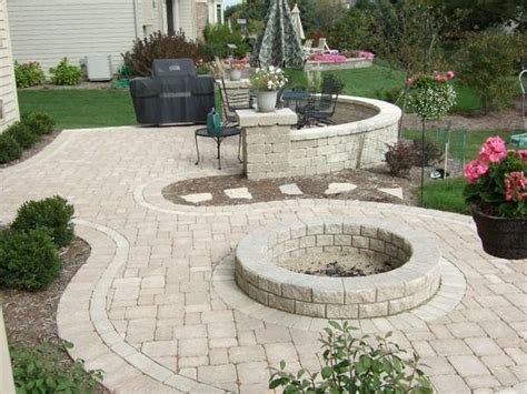 back yard paver patio with pit ideas 2017 2018