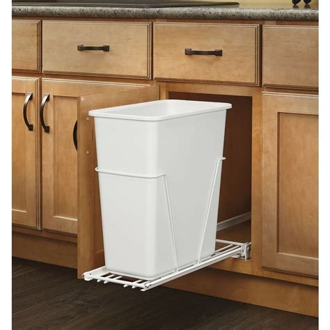 pull out garbage cabinet rev a shelf rv 9pb 5 30 qt plastic pull out trash can