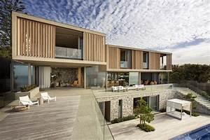 Wooden, Facade, Modern, House, Design, By, Saota