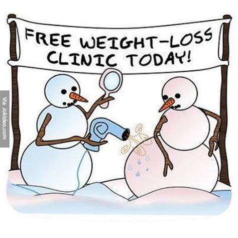Funny Weight Loss Memes - funny snowmen weightloss clinic cartoon