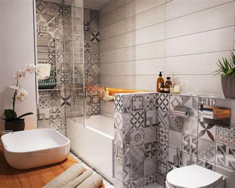 carrelage mural salle de bain en carreaux de ciment gris 224 motifs salle de bain
