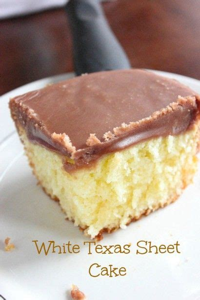 white sheet cake with chocolate fudge frosting