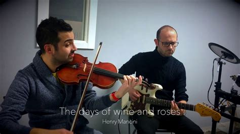 Jazz Violin  Henry Mancini  The Days Of Wine And Roses