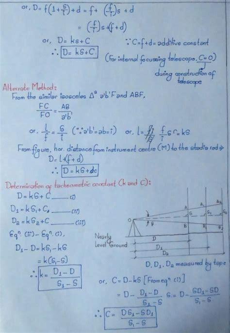 tacheometry civil engineering notes