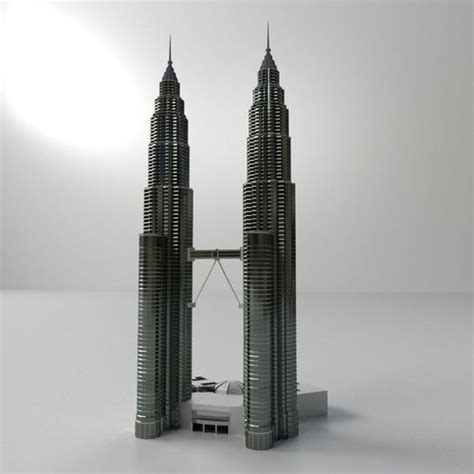 petronas twin tower  cgtrader