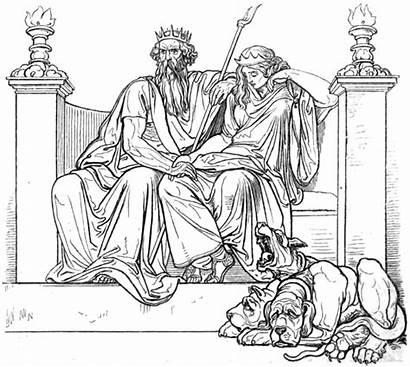 Hades Persephone Proserpine Throne Rape Jerk Mythology