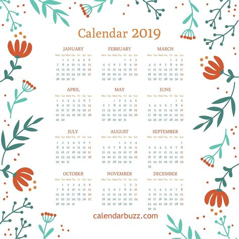 wall desk printable calendar