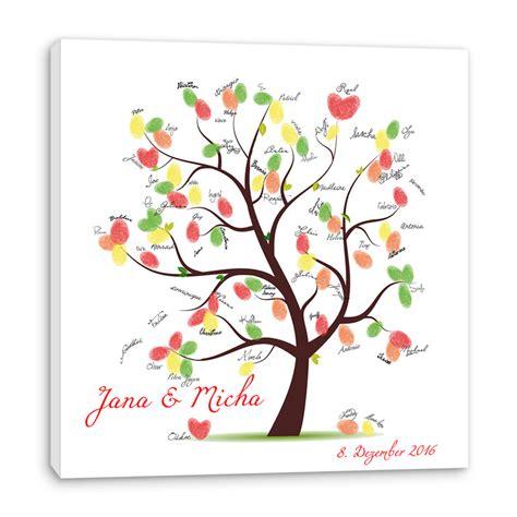 Individuelles Ambiente Dank Wand by Fingerabdruck Baum Auf Leinwand Hochzeitsspiel