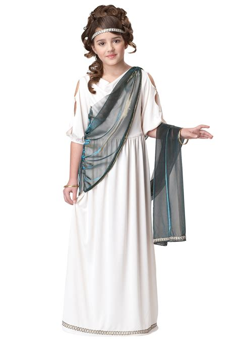 Girls Roman Goddess Toga Costume - Child Greek and Roman Princess Costumes