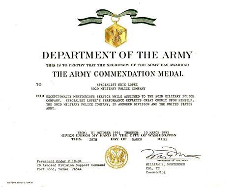 army aam award citation army aam award exles