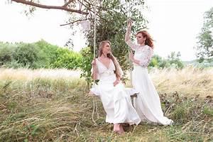 Robe De Mariage Champetre : shooting mariage champ tre robes de salom gautard ~ Preciouscoupons.com Idées de Décoration