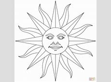 Inti Incan God of Sun coloring page Free Printable