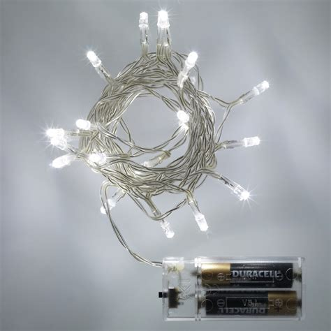 battery operated party lights 20 led white battery operated fairy lights static
