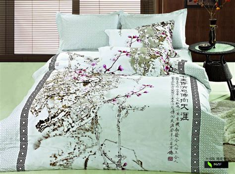 Beatiful And Elegant Chinese Style Printed Duvet Cover Set
