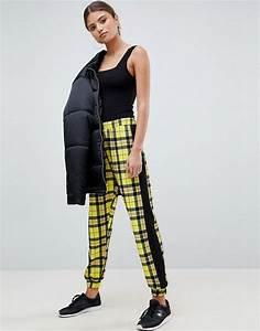 Pantalon Avec Bande Sur Le Coté : asos design pantalon de jogging carreaux avec bandes ~ Melissatoandfro.com Idées de Décoration