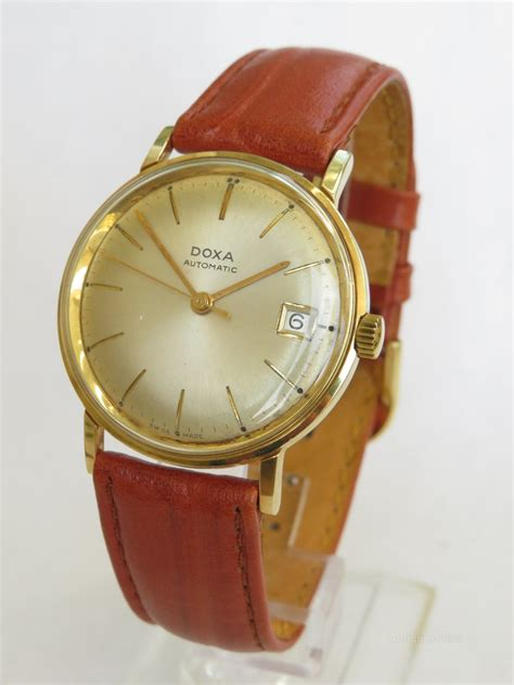 antiques atlas gents ct gold doxa wrist