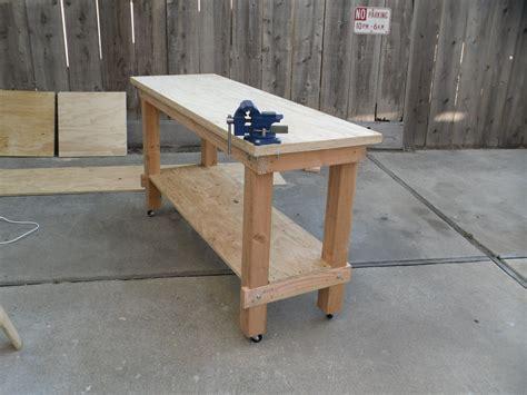 building  heavy duty workbench plans diy woodworking