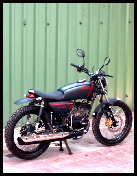 Gazgas Raptor 100 Modification by Yamaha Rx135 To 21 Cafe Racer Modify My Rx 100 Motos